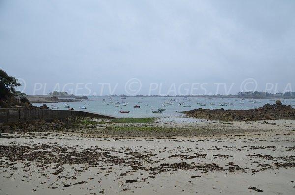 Plage de Port Blanc à marée descendante - Bretagne