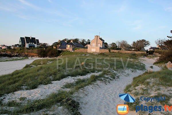 Dunes autour de la plage entre Porspoder et Landunez - Argenton