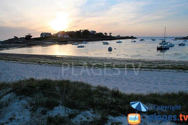 Presqu'ile du Vivier et la plage de Landunvez