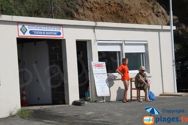 Poste de secours de la plage de la roche d'Argent