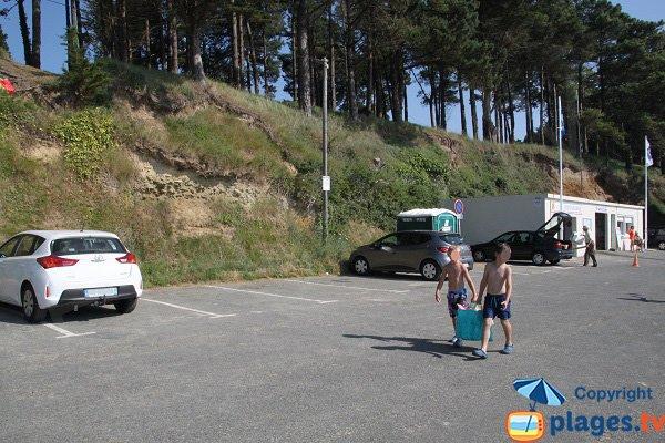 Parking de la plage de la Roche d'Argent