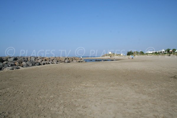 Photo of the Rochelongue beach in Cape d'Agde in France
