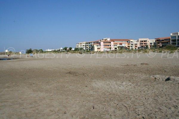 Building near the beach of Rochelongue in Cap d'Agde