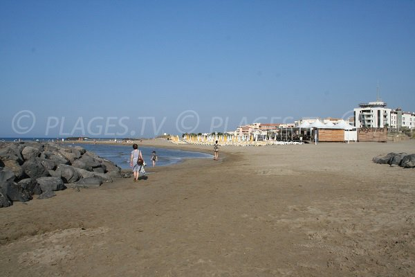 Private beach at Rochelongue in Cape d'Agde