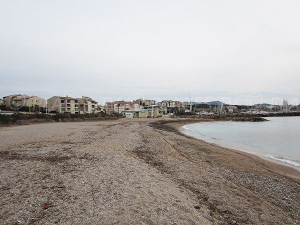 Spiaggia Roches Brunes a Six Fours in inverno