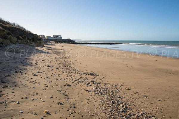 Photo of the Roches Noires beach in Trouville sur Mer in France