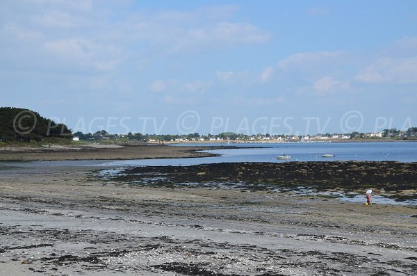 Rochers sur la plage du Rolay