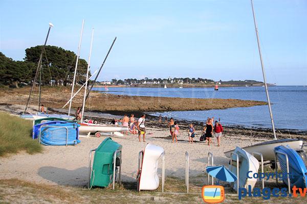 Panneau de présentation de la plage