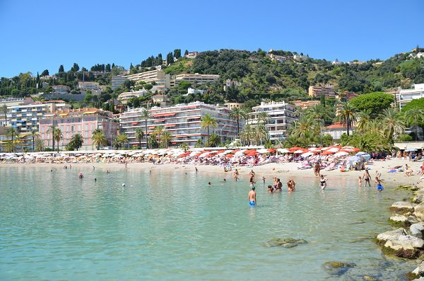 Swimming in Menton - Beach of Rondelli