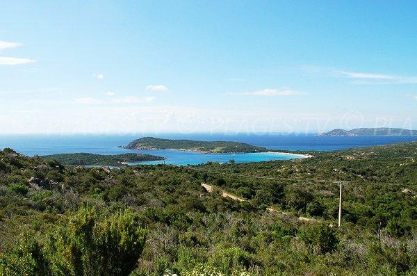 Photo de la plage de Rondinara en Corse