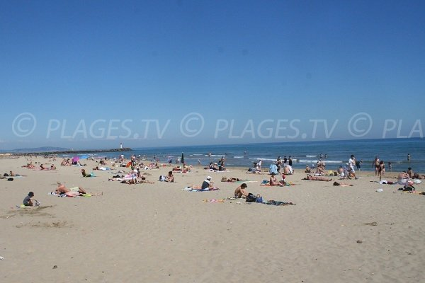 Roquille beach in Agde in France