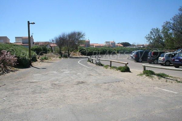 Car park in the Roquille beach in Cap d'Agde