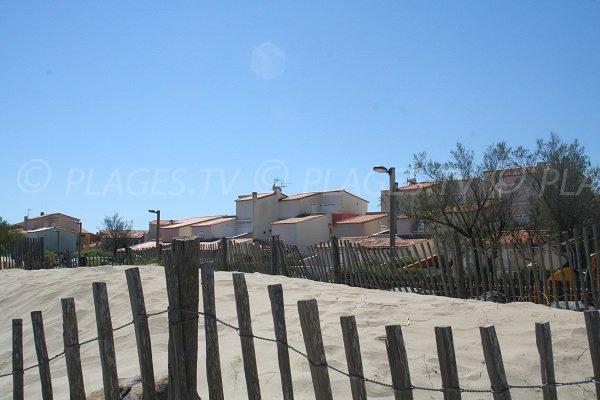 Arrière plan de la plage de la Roquille au Cap d'Agde