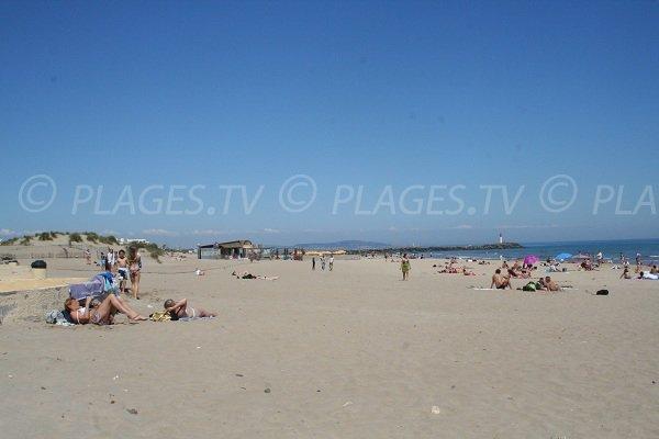 Plage de la Roquille au Cap d'Agde