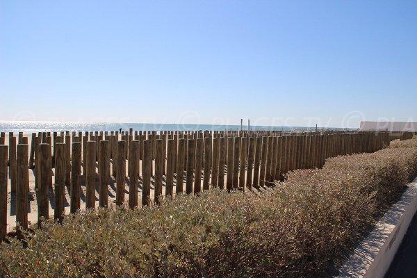 Palavas les Flots beach next to Carnon-Plage