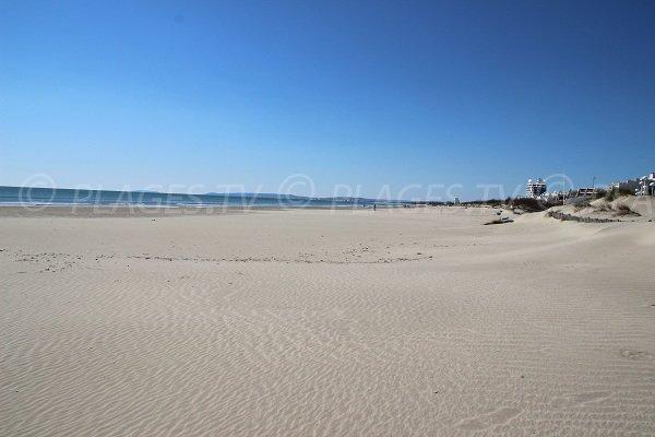 Spiaggia ad ovest della Grande Motte