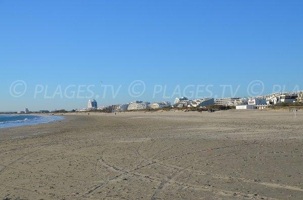 Spiaggia a La Grande Motte verso Carnon-Plage