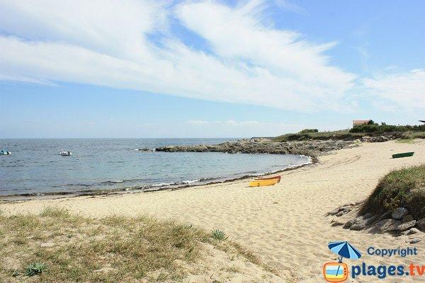 Roses Beach in Ile d'Yeu in France