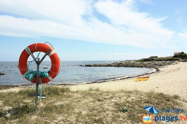 Photo de la plage des Roses sur l'ile d'Yeu
