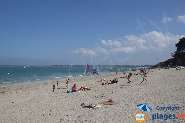 Beach of Rougeret in Saint Jacut de la Mer in France