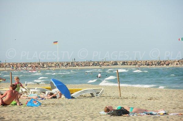 Photo de la plage du Canet en Roussillon
