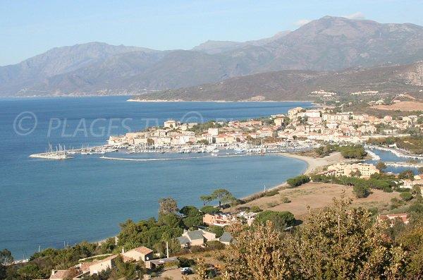 Roya beach in Saint Florent in Corsica