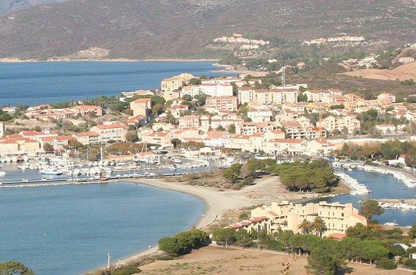 Roya beach and Saint Florent harbor in Corsica