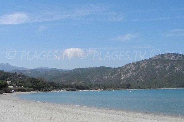 Sandy beach in the Gulf of Saint Florent