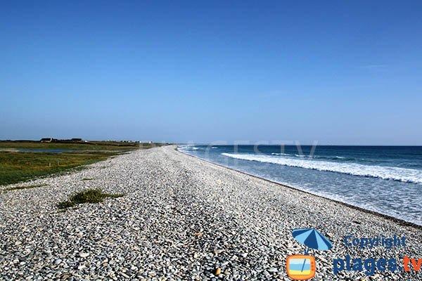 Grande plage de Plovan en Bretagne