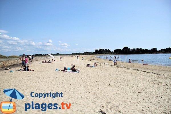 Photo de la plage de Rudevent en été sur l'ile d'Arz