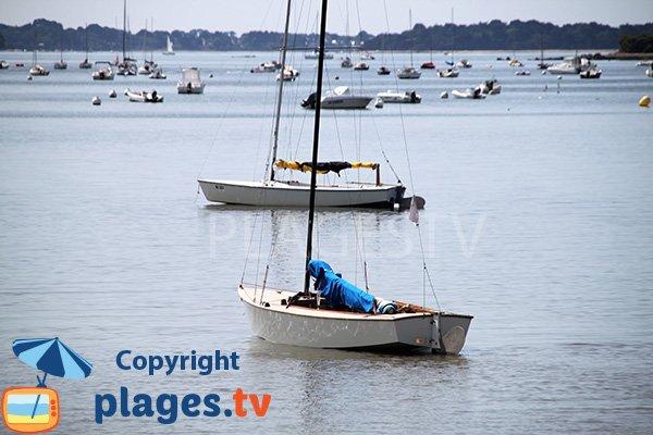Plage bien abritée pour les bateaux - Ile d'Arz