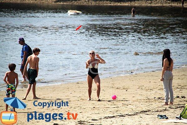 Plage de sable sur l'ile d'Arz - Rudevent