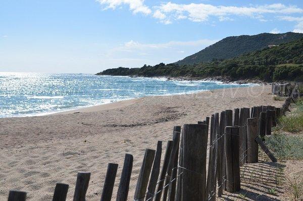 Plage du Ruesco à Olmeto en Corse
