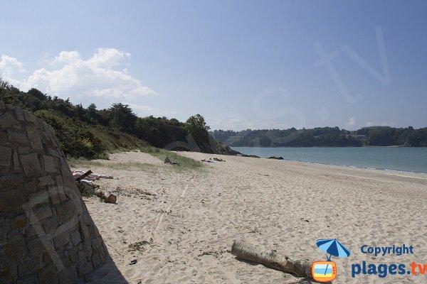 Côté gauche de la plage du Ruet - St Jacut de la Mer