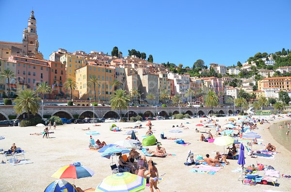 Photo of the beach of Menton in the old town