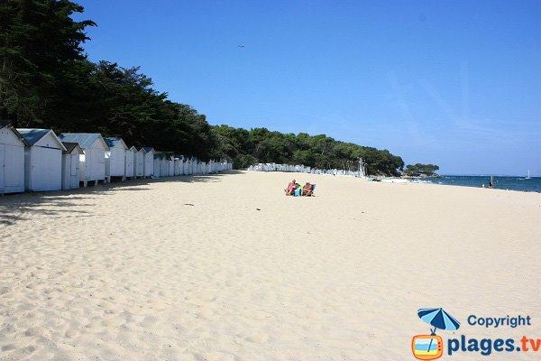 Bathing huts on the beach Sableaux - Noirmoutier