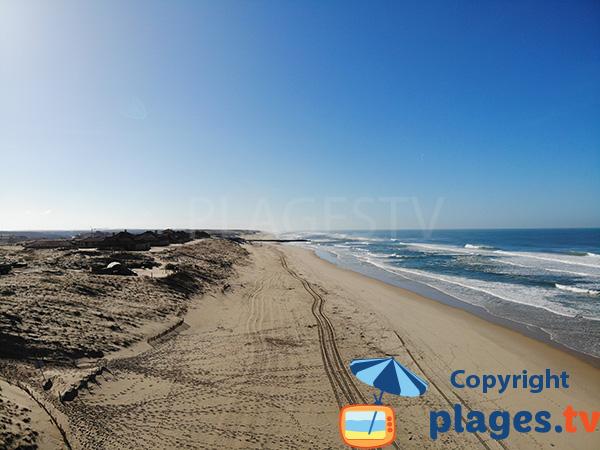 Photo de la plage des Sablères à Vieux Boucau dans les Landes