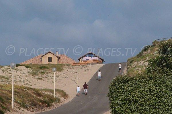 L'accesso alla spiaggia di Sablères a Vieux Boucau