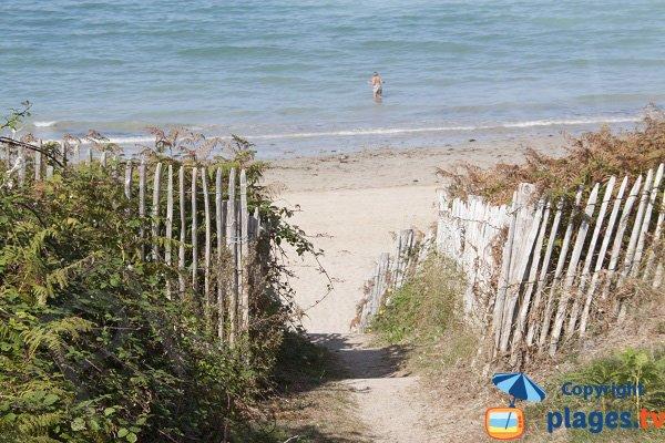 Sentier de la plage des Sables Blancs