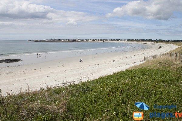 Photo de la plage des Sables Blancs à Loctudy en Bretagne