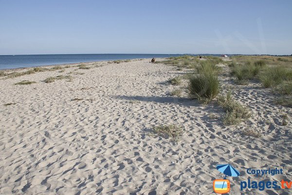 Sables Blancs beach in Plouharnel