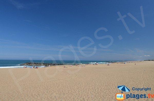 Spiaggia di sabbia fuori dalla vista a Anglet