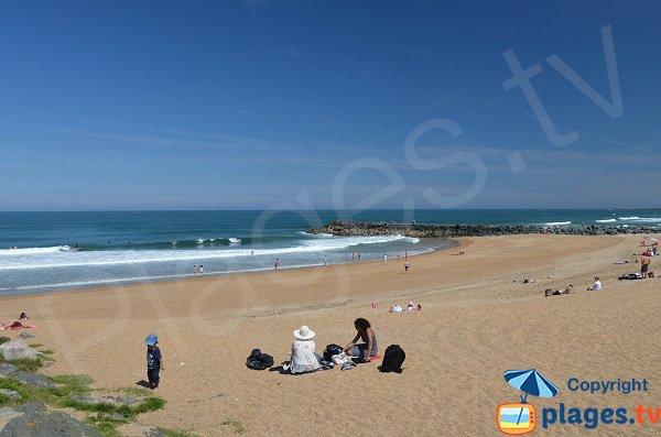 Spiaggia Les sables d'Or dall'Esplanade Gascons