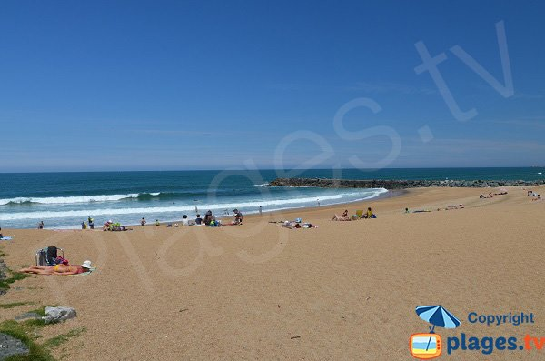 Photo de la plage des Sables d'Or d'Anglet
