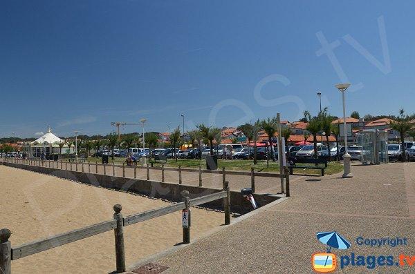 Parking pour les plages dans le centre d'Anglet