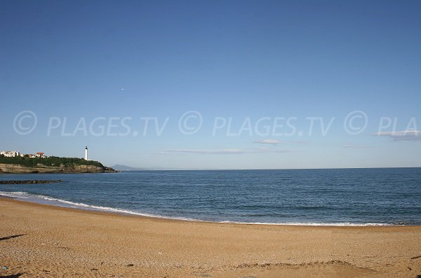 Sables d'Or beach in Anglet in France