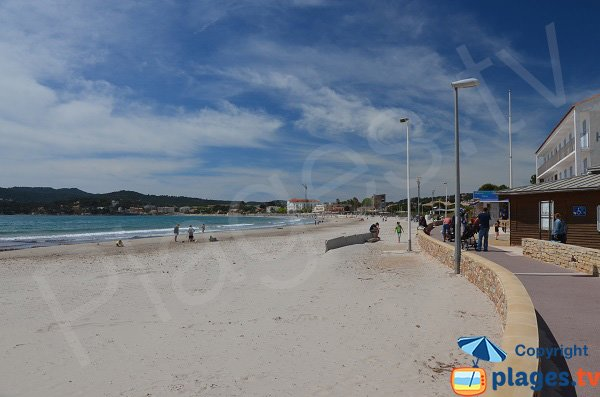 environment of Sablettes beach in La Seyne in Var department