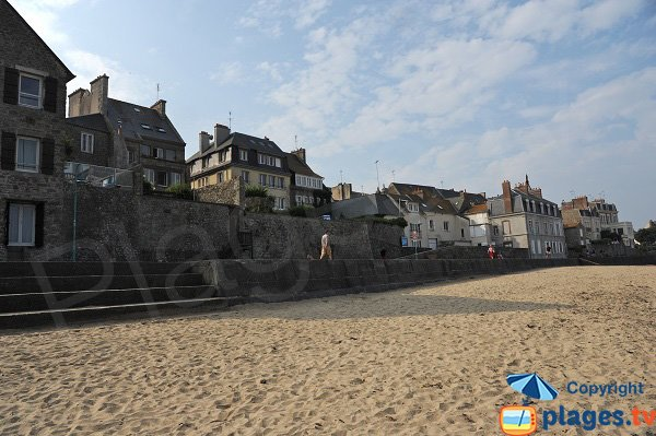 Sablons beach in Saint Malo - France