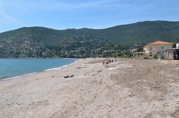 Main beach in Sagone - Corsica