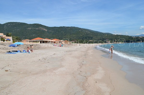 Plage en Corse à Sagone